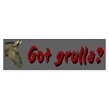 """""""Got grulla?"""" Horse Bumper Bumper Sticker"""