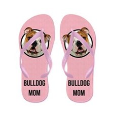 Bulldog Mom Flip Flops