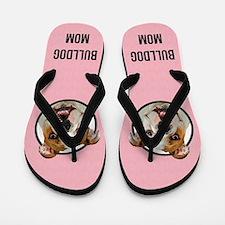 Bulldog Mom Flip Flops