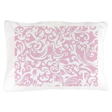 Baby Pink & White Swirls #2 Pillow Case