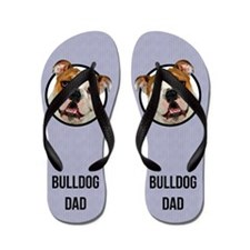 Bulldog Dad Flip Flops