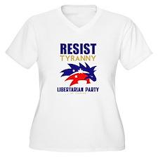 Resist Tyranny Red Plus Size T-Shirt