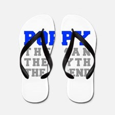 poppy-fresh-blue-gray Flip Flops