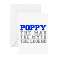 poppy-fresh-blue-gray Greeting Card