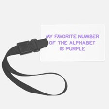 my-favorite-number-so-purple Luggage Tag