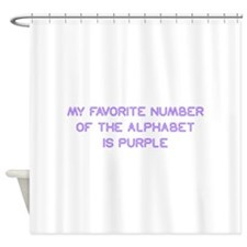 my-favorite-number-so-purple Shower Curtain