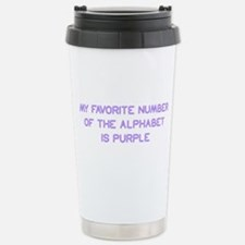 my-favorite-number-so-purple Travel Mug