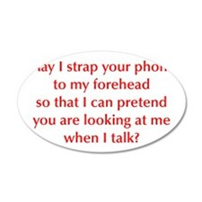 may-I-strap-your-phone-opt-red Wall Decal