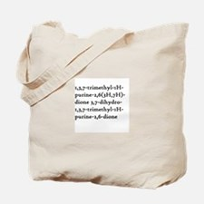 Caffeine Chemical Name Tote Bag