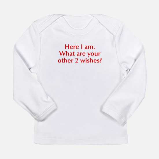 here-I-am-opt-red Long Sleeve T-Shirt