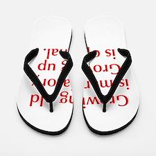 growing-old-opt-red Flip Flops