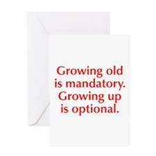 growing-old-opt-red Greeting Card