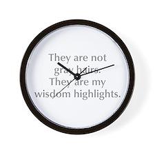 gray-hair-opt-gray Wall Clock