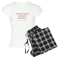 do-not-read-next-sentence-opt-red Pajamas