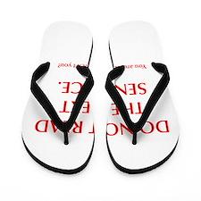 do-not-read-next-sentence-opt-red Flip Flops