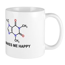 Caffeine Molecule Makes Me Happy Mug