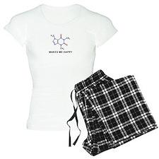 Caffeine Molecule Makes Me Happy Pajamas