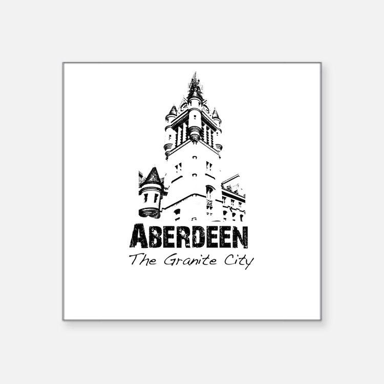 "Aberdeen - The Granite City Square Sticker 3"" x 3"""