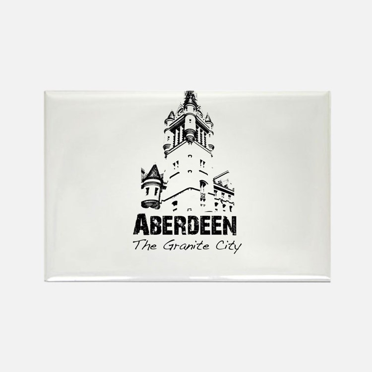 Aberdeen - The Granite City Rectangle Magnet