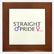 Straight Pride Framed Tile