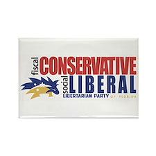 Libertarian conservative, liberal Bumper Sticker R