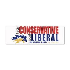 Libertarian conservative, liberal Bumper Sticker C