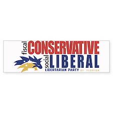Libertarian conservative, liberal Bumper Sticker B