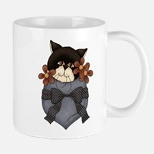 Pocket Kitty Black Mug