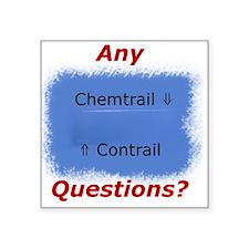 Contrail vs. Chemtrail Sticker