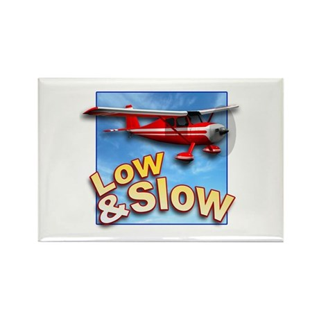 Low and Slow Aviation Rectangle Magnet