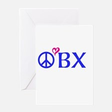 Outer Banks, OBX, Peace, love, Greeting Card