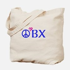 Outer Banks, OBX, Peace, love, Tote Bag
