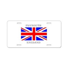 Plymouth England Aluminum License Plate