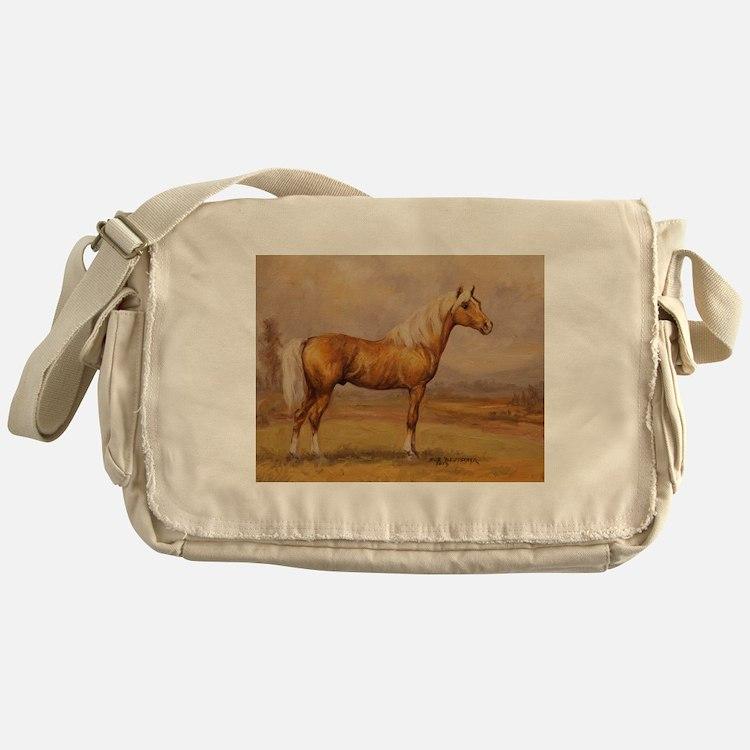 Palomino Horse Messenger Bag
