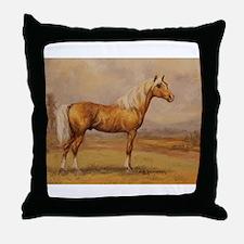 Palomino Horse Throw Pillow