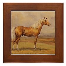 Palomino Horse Framed Tile