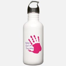baby Girl On The Way Water Bottle