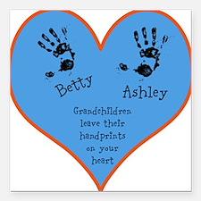 Grandchildren leave their handprints - 2 kids Squa