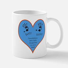 Grandchildren leave their handprints - 2 kids Small Mugs