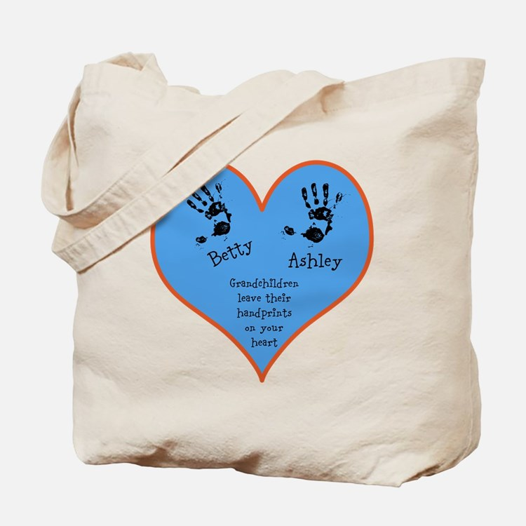 Grandchildren leave their handprints - 2 kids Tote
