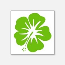 Lime Green Hibiscus Sticker