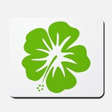 Lime Green Hibiscus Mousepad