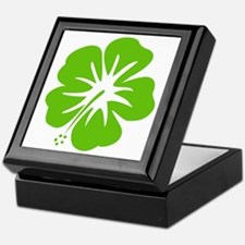 Lime Green Hibiscus Keepsake Box