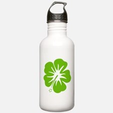 Lime Green Hibiscus Water Bottle