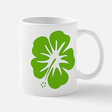 Lime Green Hibiscus Mug