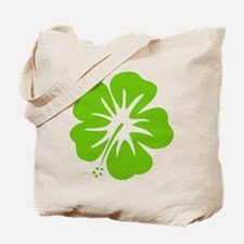 Lime Green Hibiscus Tote Bag
