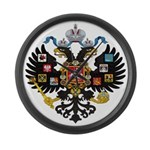 Romanov Crest Large Wall Clock