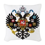 Romanov Crest Woven Throw Pillow