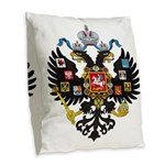 Romanov Crest Burlap Throw Pillow