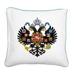 Romanov Crest Square Canvas Pillow